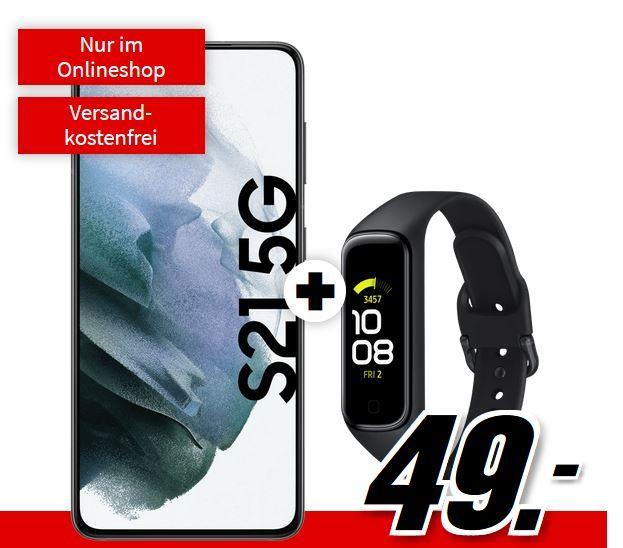 Samsung Galaxy S21 5G + Fit 2 Tracker für 49€ + Telekom Allnet + 10GB LTE für 29,99€ mtl.