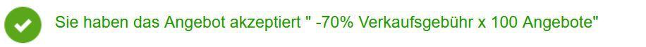 eBay:  70% Verkaufsprovision bis Montag   max 100 Artikel für ausgewählte Member