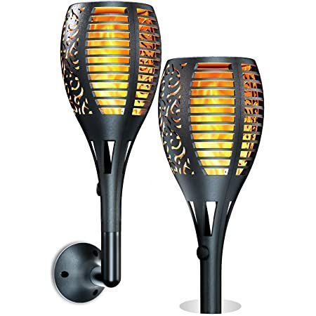 2er Pack: Ruyilam LED Solar Gartenfackeln mit Flammeneffekt für 22,43€ (statt 33€) – neue Version!