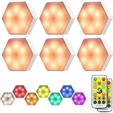 6er Pack: KINGSO RGB LED Schrank- & Nachtlicht mit Fernbedienung für 11,99€ – Prime