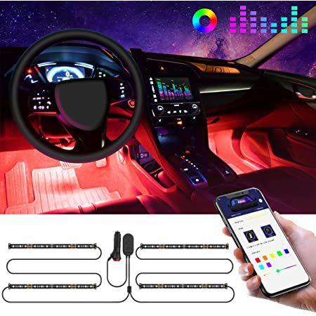 Govee LED Innenbeleuchtung mit App Steuerung für das Auto für 17,24€ (statt 23€) – Prime