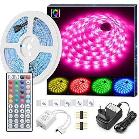 5m MINGER RGB LED-Streifen mit Fernbedienung für 13,59€ – Prime