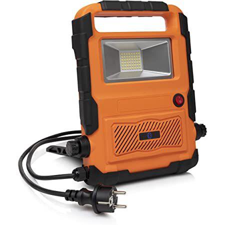 Smartwares FCL 76012 Bauleuchte & Bluetooth Lautsprecher für 25,90€ (statt 46€)