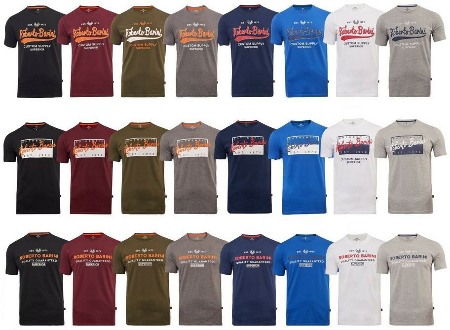 Roberto Barini Herren T Shirt mit Logo Print für 12,99€ (statt 16€)