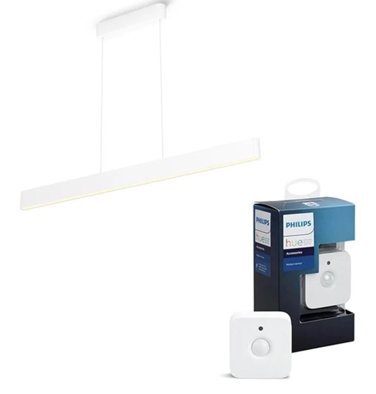 Philips Hue Ensis Pendelleuchte (BT) + Motion Sensor für 294,49€ (statt 372€)
