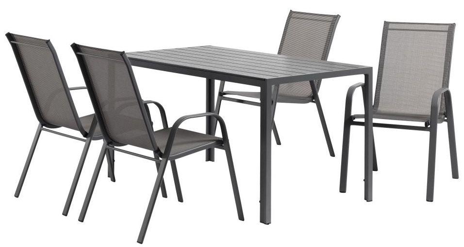 Fehler? Gartenmöbel Set Jersore/Mexico mit 80x140cm Tisch + 4 Stühle ab 0,01€