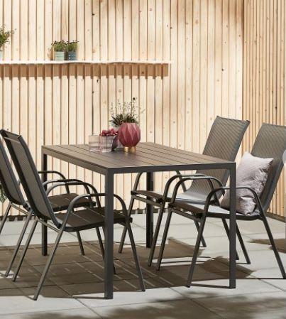Fehler? Gartenmöbel-Set Jersore/Mexico mit 80x140cm Tisch + 4 Stühle ab 0,01€