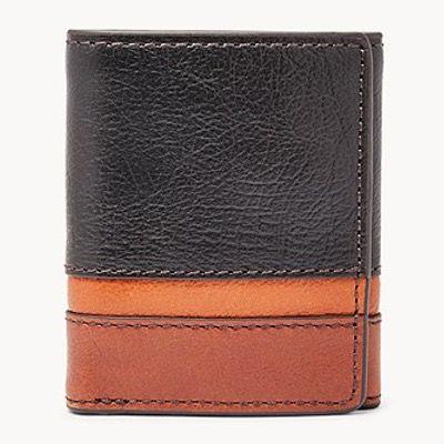 FOSSIL Herren Leder-Geldbörse Easton mit RFID Trifold für 16,50€ (statt 55€)