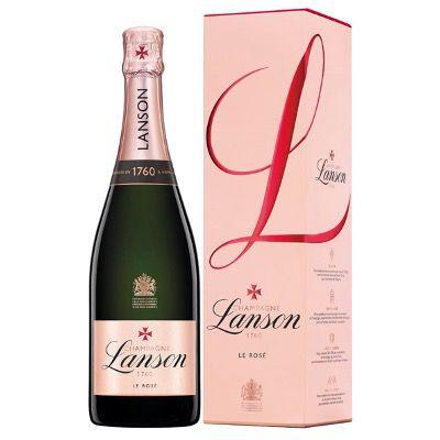 Lanson Champagner Rosé Label Brut 0,75 Liter in Geschenkverpackung für 33,90€ (statt 43€)