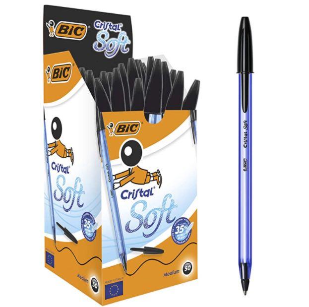 50er Pack BIC Cristal Soft Kugelschreiber für 4,89€ (statt 8€)