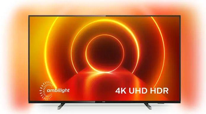 Philips 65PUS7805   65 Zoll UHD Fernseher mit 3 seitigem Ambilight für 649€ (statt 750€)