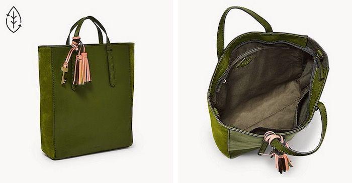FOSSIL Camilla Backpack aus grünem Leder für 62,70€ (statt 209€)