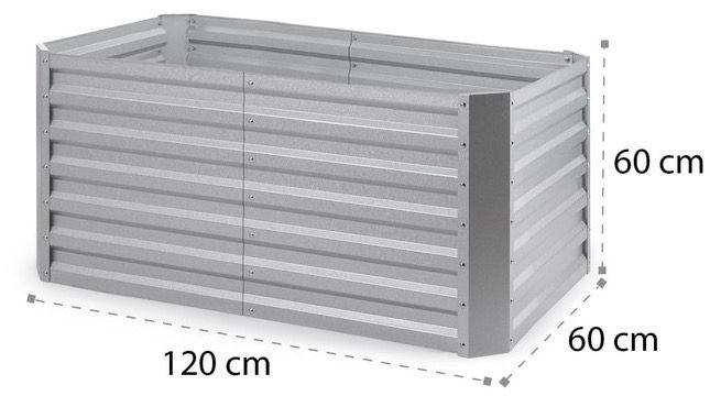 Blumfeldt High Grow Straight Hochbeet 120x60x60cm 432 Liter aus Stahl für 64,99€ (statt 97€)