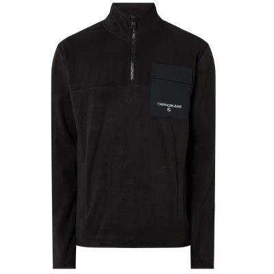 Calvin Klein Jeans Troyer aus Fleece in Schwarz für 39,99€ (statt 63€)