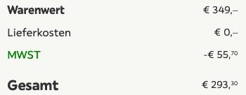 Bessagi Chaiselongue Elia in Dunkelgrau für 293,30€ (statt 349€)