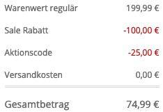 Guess Herren Daunenjacke mit abnehmbarer Kapuze in Schwarz für 74,99€ (statt 100€)