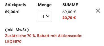 FOSSIL Kombigeldbörse Lufkin International aus braunem Leder für 20,70€ (statt 69€)