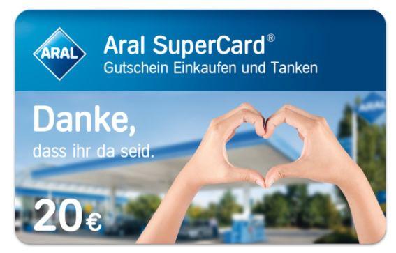 Tipp! Verlosung: 20€ Aral SuperCards für Post  & Paketzustellern*innen   10.000 Stück!