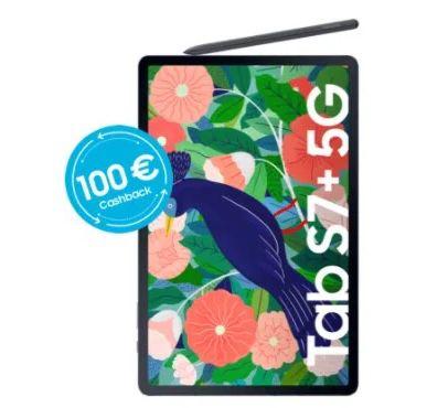 🔥 Samsung Galaxy Tab S7+ 5G 256GB inkl. S-Pen für 1€ + o2 Free Unlimited Max für 59,99€ mtl. + 1 Jahr Netflix + 100€ Cashback