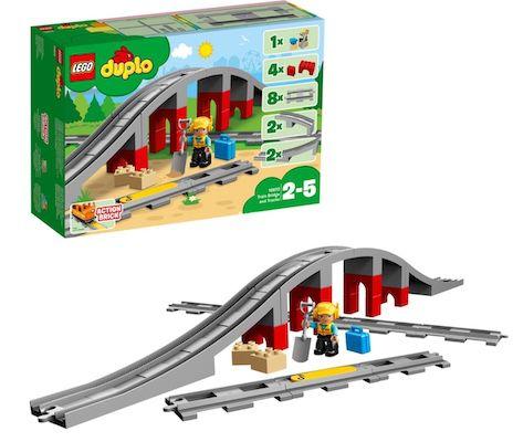 LEGO Duplo – Eisenbahnbrücke und Schienen (10872) für 16,99€ (statt 23€)