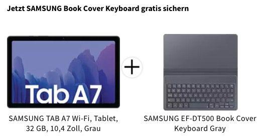 Samsung TAB A7 10,4 Zoll WiFi mit 32GB inkl. Book Cover Keyboard für 179€ (statt 247€)