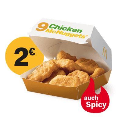 McDonald's Ostercountdown 2021 – heute: 9er Chicken McNuggets für nur 2€