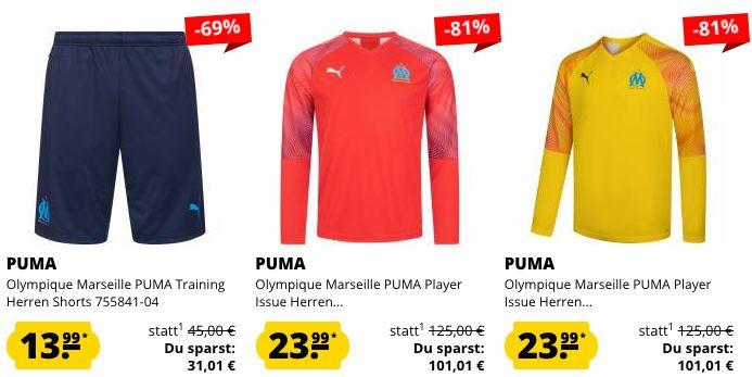 Puma Olympique Marseille Sale bei SportSpar   z.B. Herren Heim Trikot 2019/2020 für nur 23,94€