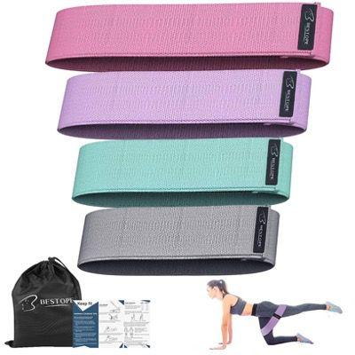 4er Pack BESTOPE Stoff-Fitnessbänder für Yoga, Pilates oder Krafttraining für 10,79€ (statt 18€)