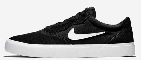 Nike Skateboardschuh SB Chron Solarsoft in Schwarz Weiß für 33,97€ (statt 65)