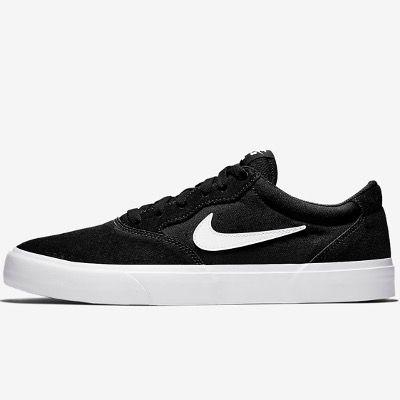 Nike Skateboardschuh SB Chron Solarsoft in Schwarz-Weiß für 33,97€ (statt 65)