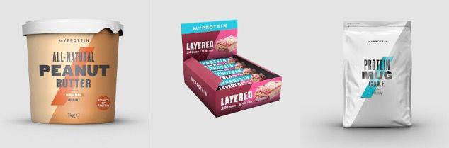 MyProtein: Heute 50% Rabatt auf alle Snacks   z.B. Riegel, Erdnussbutter, Sirup oder Protein