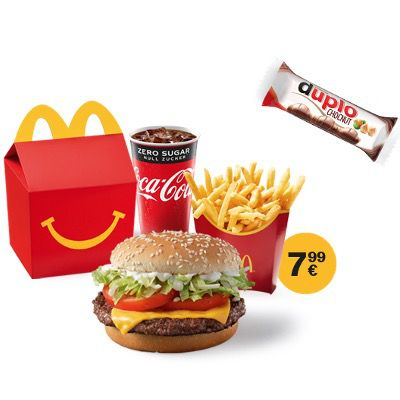McDonald's Ostercountdown 2021 – heute: McMenü Small + Happy Meal + Duplo Chocnut für 7,99€