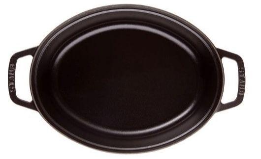 Staub Bratentopf 33 x 28 cm oval in Schwarz für 144€ (statt 179€)