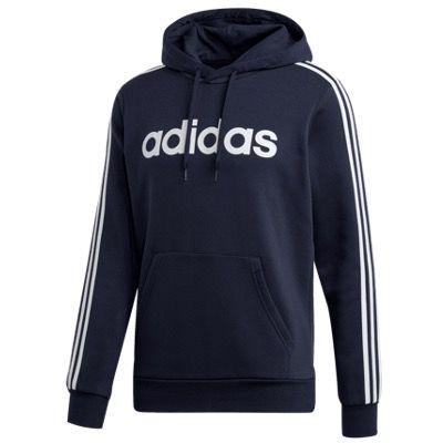 adidas Kapuzenpullover Essential 3S Fleece-Hoodie in Dunkelblau-Weiß für 27,47€ (statt 38€)