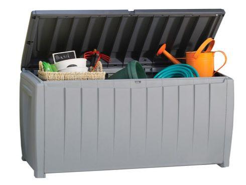 Keter Novel Aufbewahrungsbox mit Sitzfunktion (340 Liter) für 58,90€ (statt 69€)