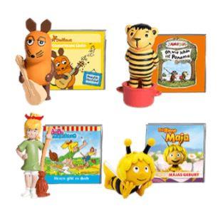 4 Tonie Hörfiguren kaufen nur 30€ bezahlen   z.B. König der Löwen, Dschungelbuch, Benjamin Blümchen oder Bambi