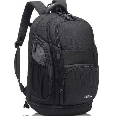 Reiserucksack 40L mit Schuhfach und 15,6 Zoll Laptopfach in Schwarz für 24€ (statt 60€)
