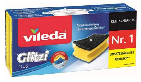 3er Pack Vileda Glitzi Plus Topfreiniger ab 0,85€   Prime