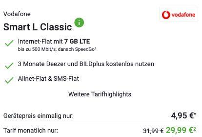 🔥 Samsung Galaxy S21 für 4,95€ + Vodafone Allnet Flat mit 7GB LTE für 29,99€ mtl.