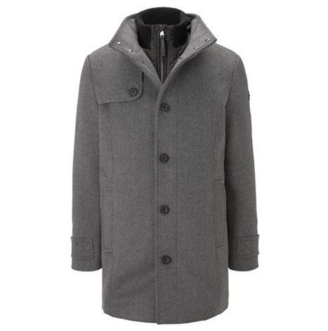 Tom Tailor Wollmantel mit gesteppter Unterjacke bis 2XL für 71,99€ (statt 139€)