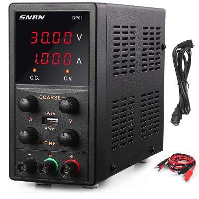 SNAN Labornetzgerät DP01 0 30V/0 5A mit 4 stelliger LED Anzeige für 48,50€ (statt 63€)