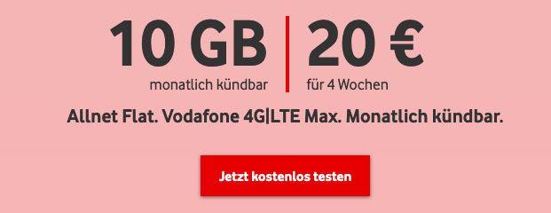 🔥 3 Monate GRATIS Vodafone CallYa Digital Prepaid mit 10GB LTE dank 60€ Startguthaben + keine Anschlussgebühr