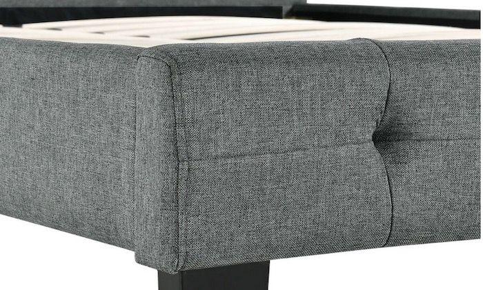 ArtLife Polsterbett Manresa 90x200cm mit Lattenrost und Kopfteil in Grau ab 94,99€ (statt 130€)