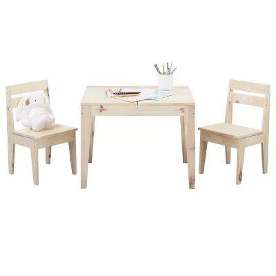Modern Living Kindersitzgruppe aus Echtholz-Kiefer Massiv für 40,88€ (statt 56€)