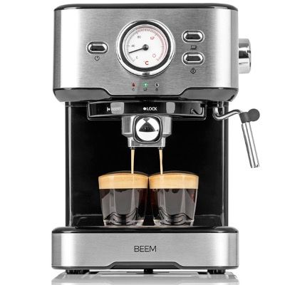 BEEM Siebträgermaschine Espresso Select mit 15 bar in Silber für 94,99€ (statt 120€)