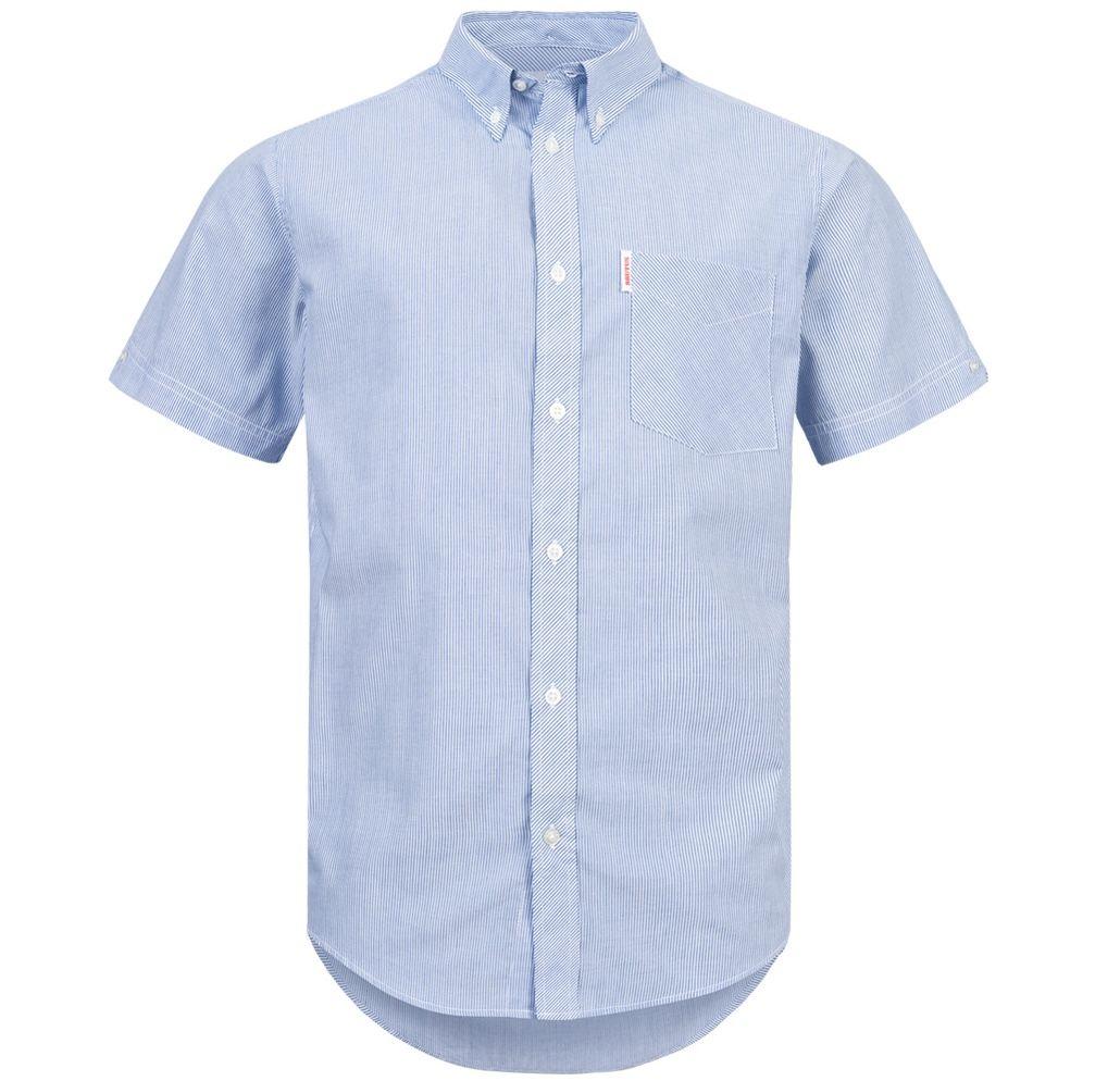 BRUTUS JEANS Kurzarm Hemd in Blue Pin Stripe für 10,61€ (statt 17€)   S, M, L