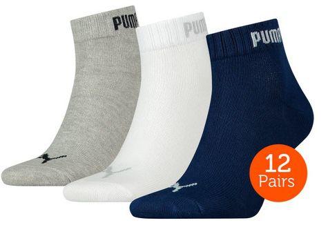12 Paar Puma Quarter oder Crew Socken für je 20,90€ (statt 26€)