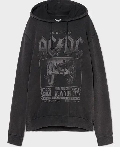 AC/DC Hoodie in Vintage Optik bis 2XL für nur 22,46€ (statt 37€)