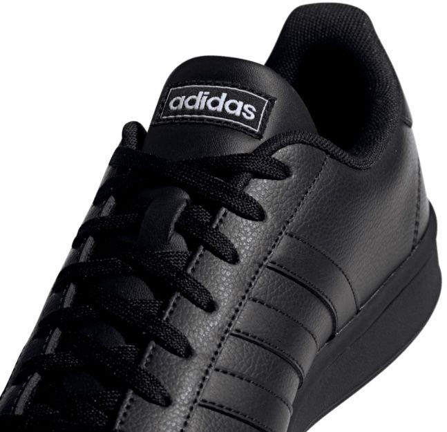 adidas Grand Court Leder Sneaker in Schwarz für 34,95€ (statt 49€)