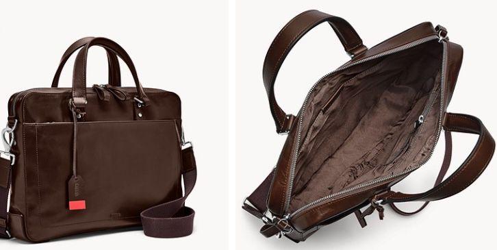 Fossil Defender Top Zip Workbag aus Leder für 88,65€(statt 195€)